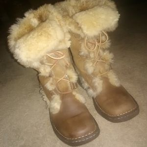 Born Genuine Shearling Leather Boots